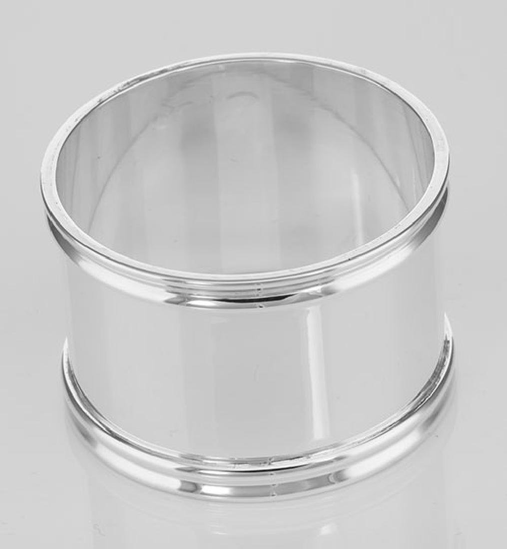 Sterling Silver Napkin Ring - Round - Made in Italy