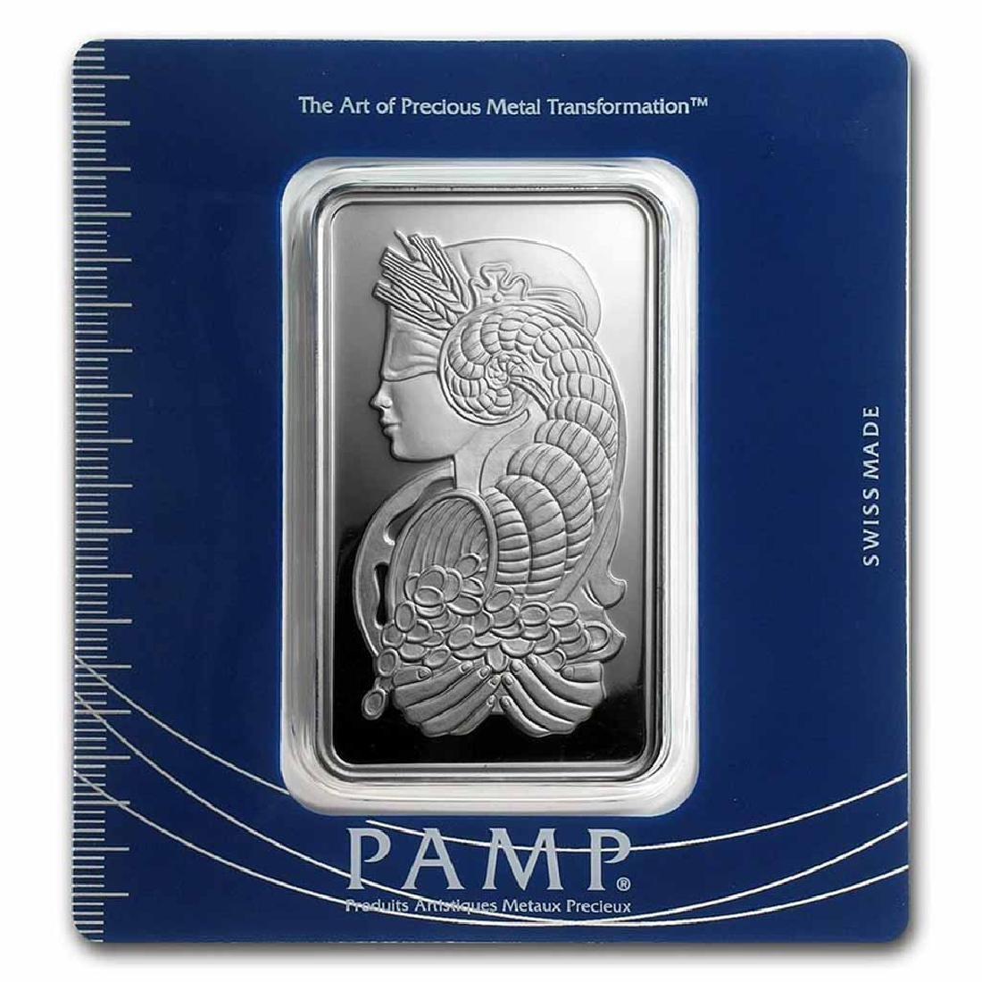 PAMP Suisse Silver Bar 100 Gram - Fortuna Design