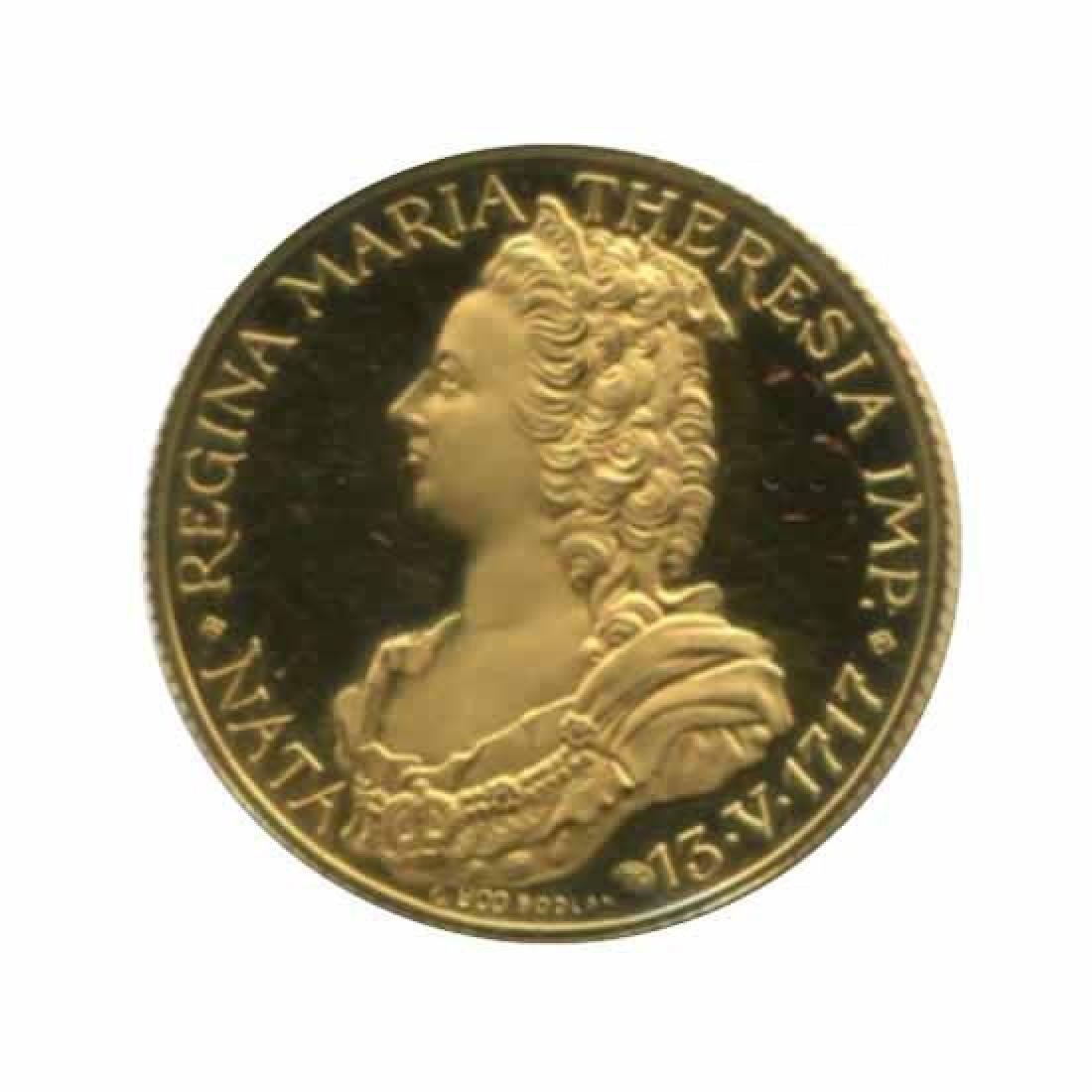 Maria Theresa 9.5g commemorative gold medal PF