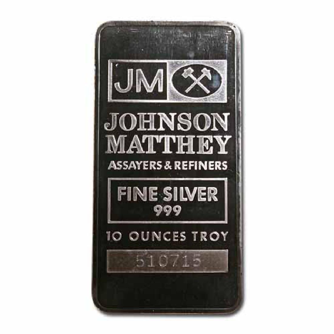Johnson Matthey Bar 10 oz Bar - Pressed JM Logo