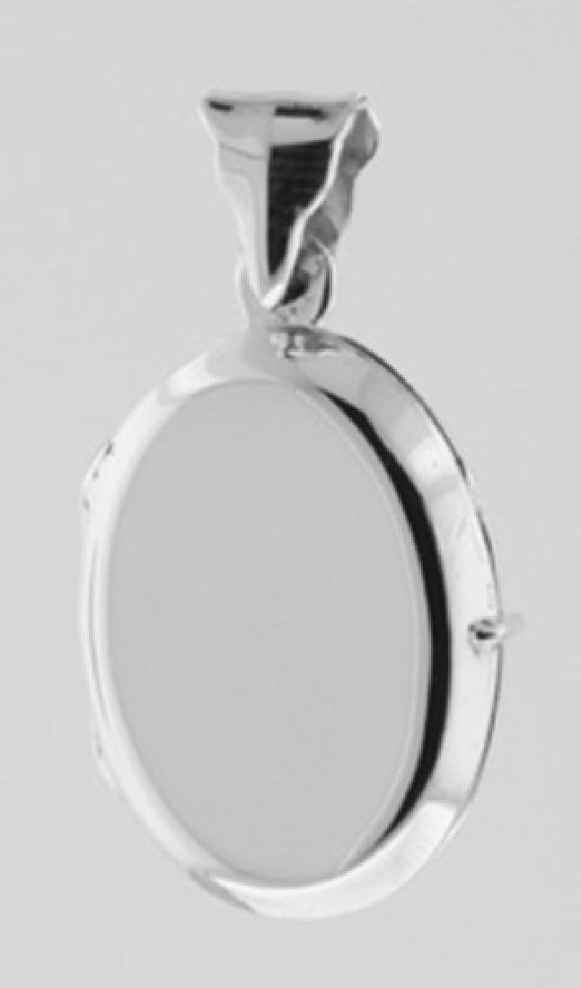 Oval Sterling Silver Locket - Smooth Pendant