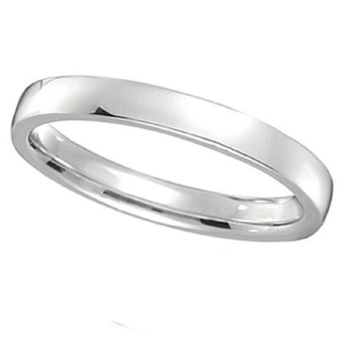 Palladium Wedding Ring Low Dome Comfort Fit (2mm)