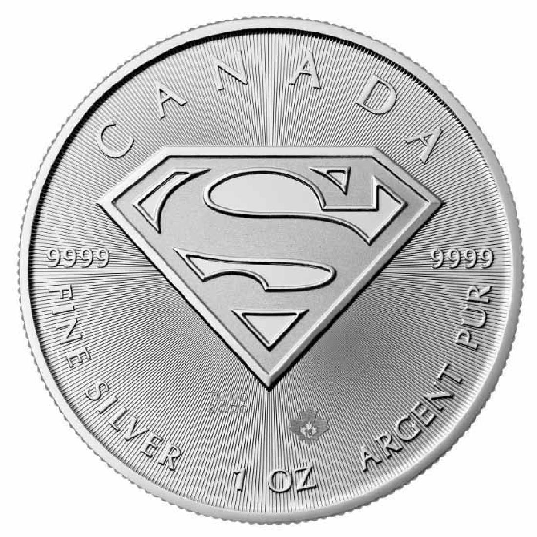 2016 Canada 1 oz Silver $5 SUPERMAN