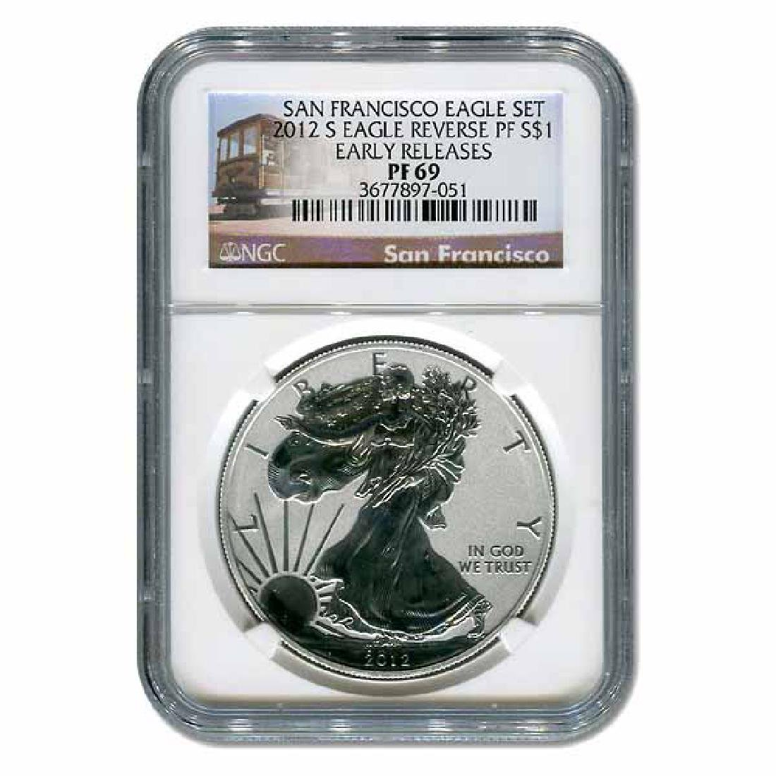 Certified 2012-S 75th Anniversary American Eagle Silver