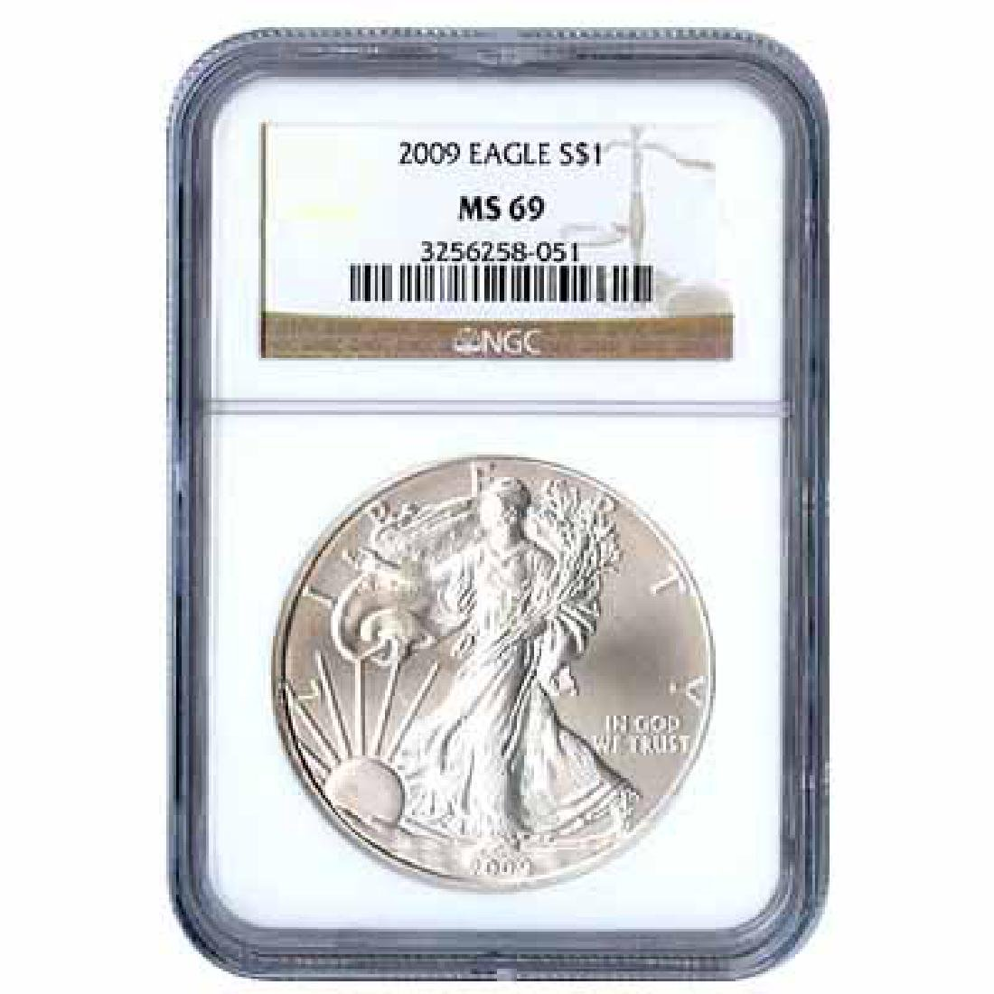 Certified Uncirculated Silver Eagle 2009 MS69