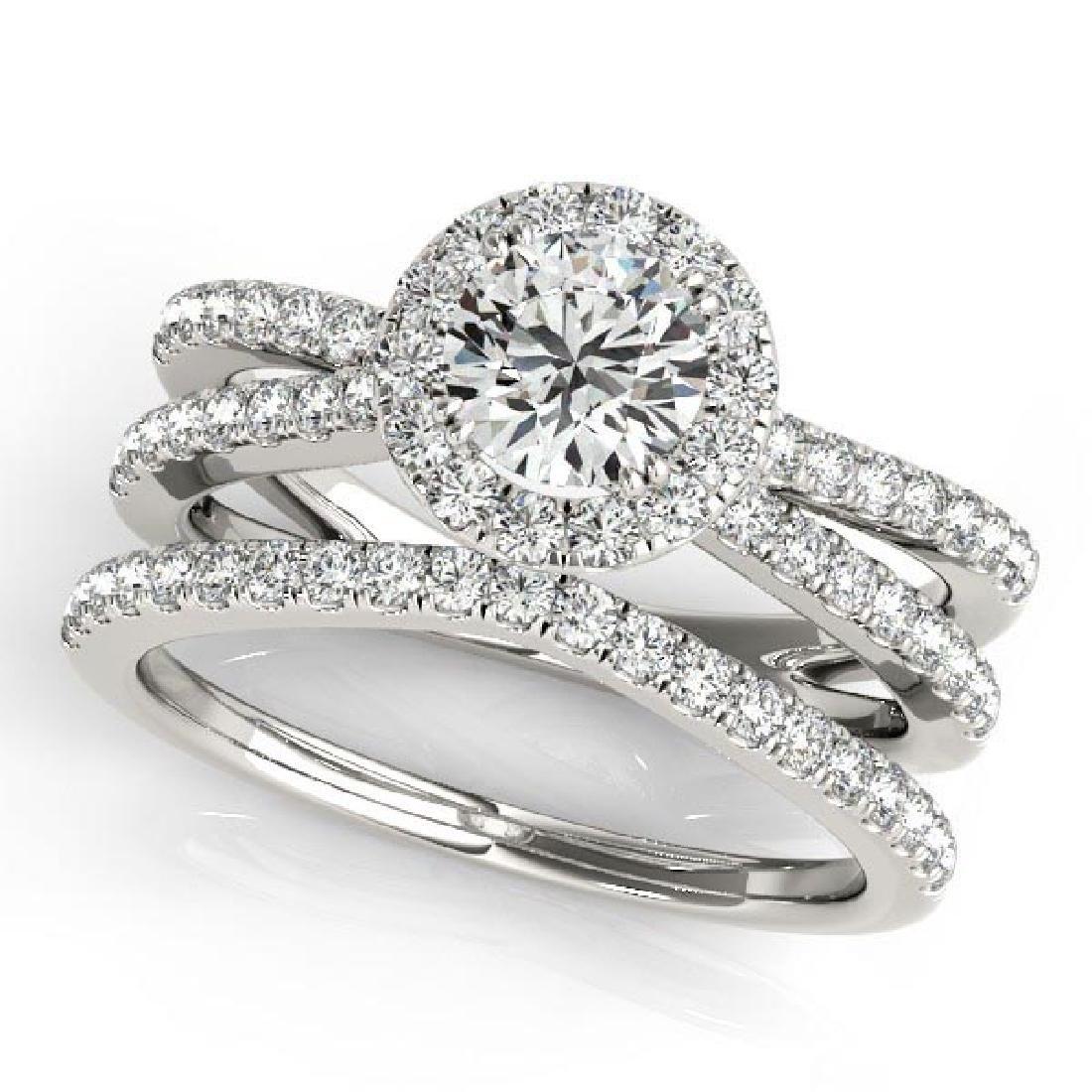 Diamond Frame Split Shank Ring and Band Bridal Set 14k