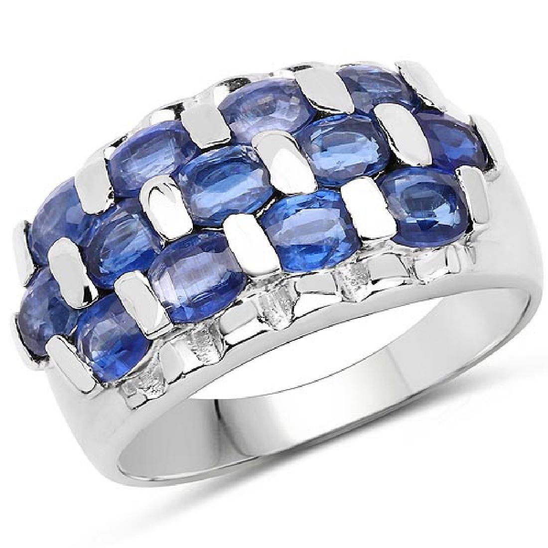3.51 Carat Genuine Kyanite .925 Sterling Silver Ring