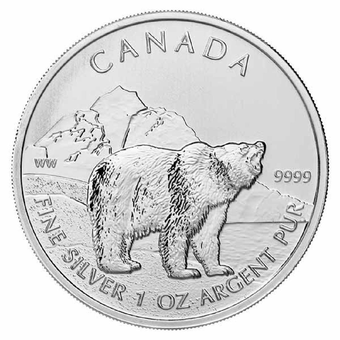 Canadian Silver 1 oz Grizzly Bear 2011