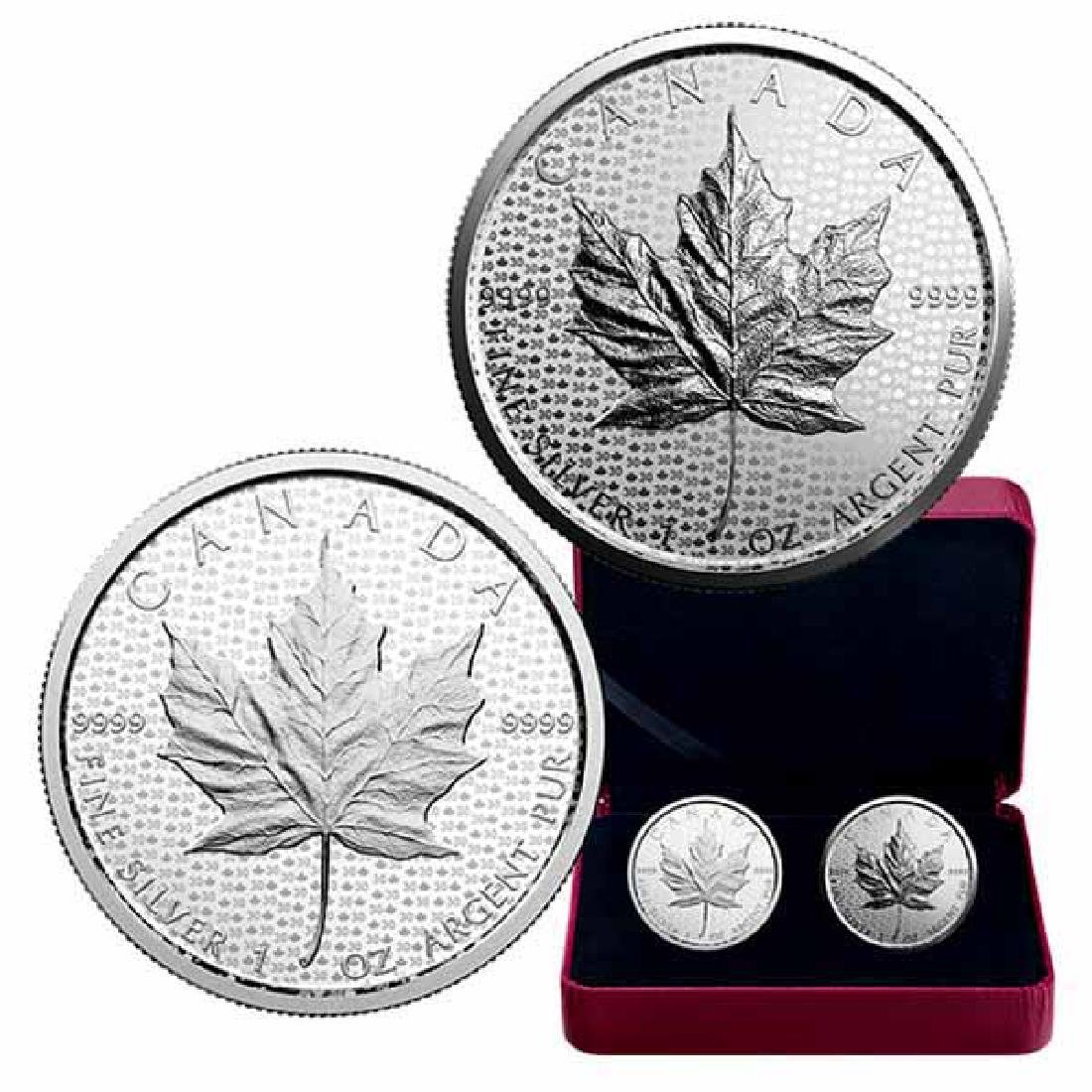 Canada 2018 Silver Maple Leaf 2 Coin Proof Set 30th Ann