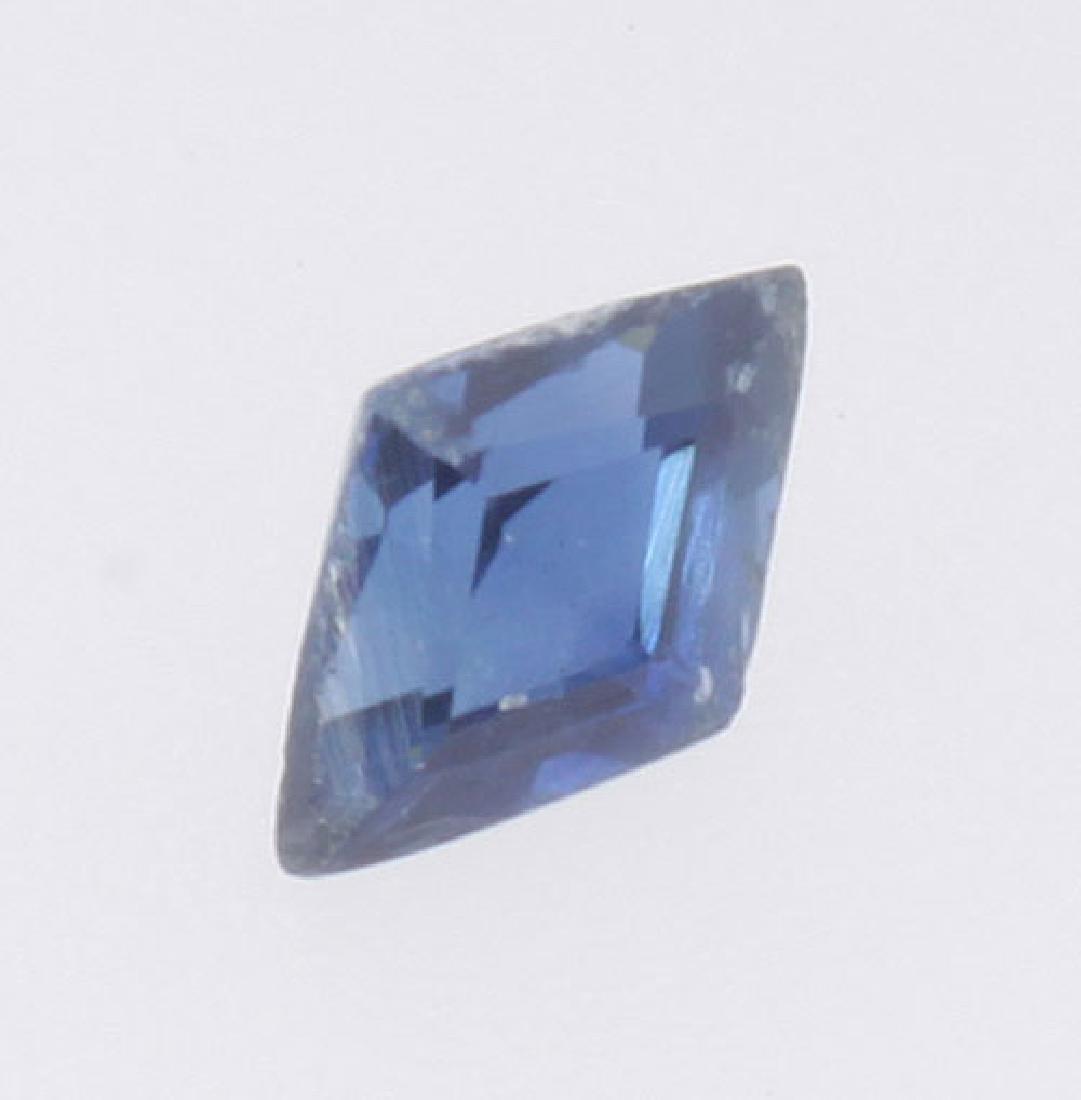 3 mm x 2 mm Diamond Shape Natural Genuine Blue Sapphire - 2