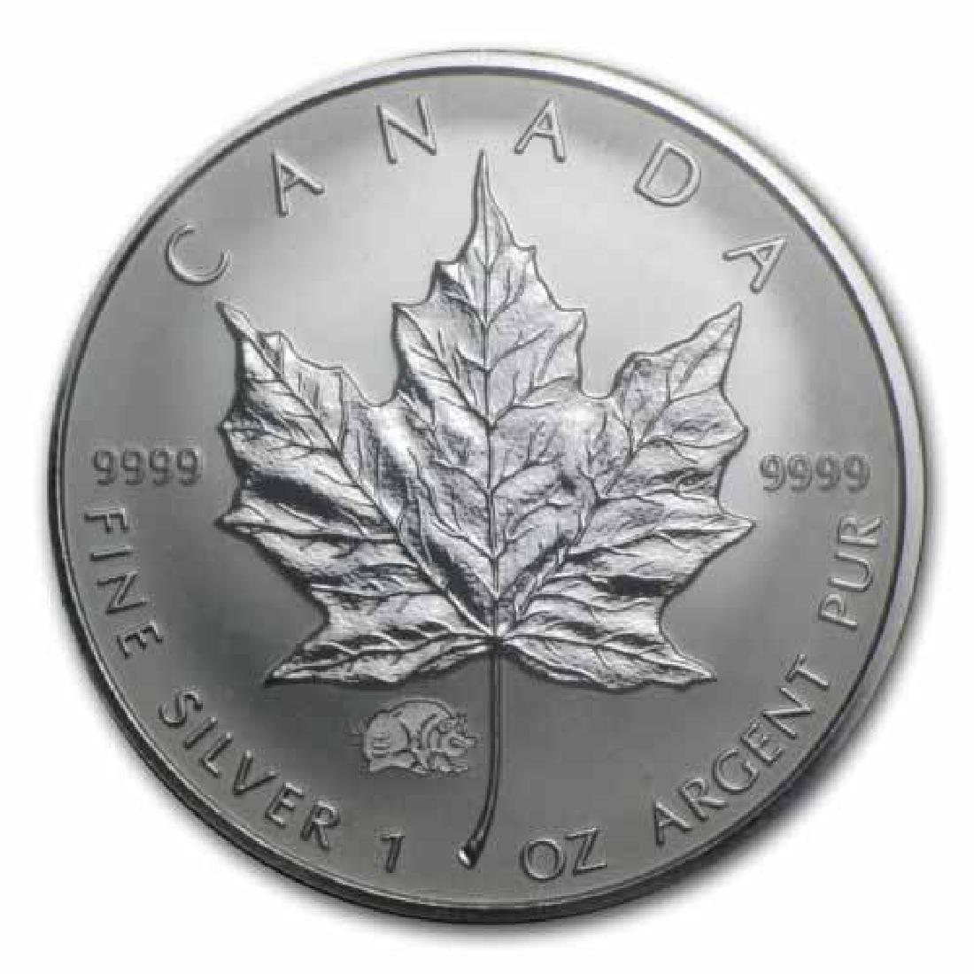2012 Canada 1 oz. Silver Maple Leaf Reverse Proof Drago