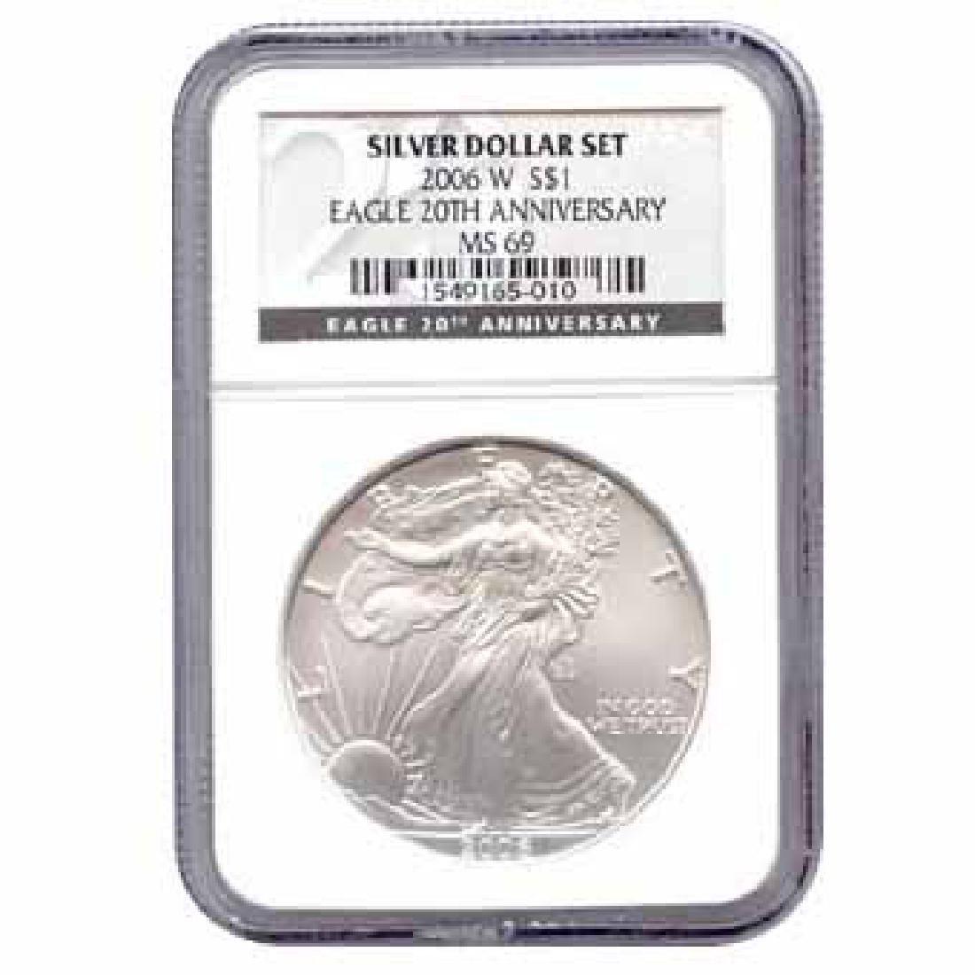 Certified 2006-W 20th Anniversary American Eagle Silver
