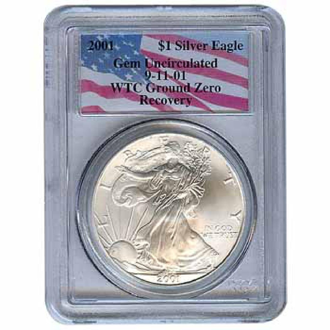 Certified Silver Eagle WTC Ground Zero Recovery 2001 Ge