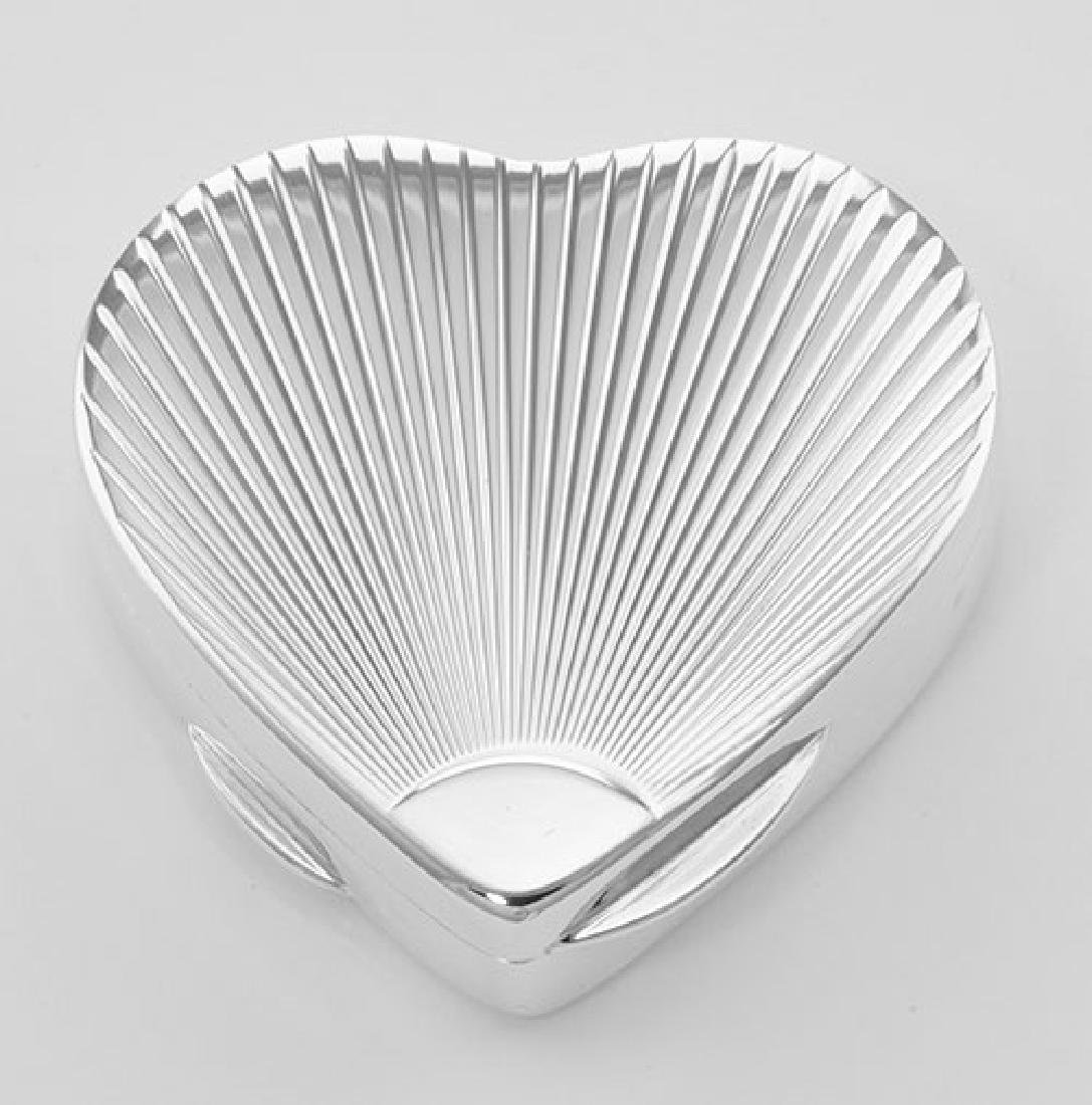 Handcrafted Italian Heart Shaped Sterling Silver Pillbo