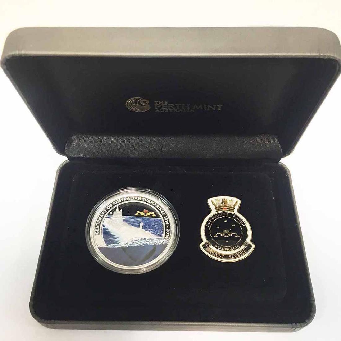 Australia $1 2014 1 oz. silver Submarine Service Centen