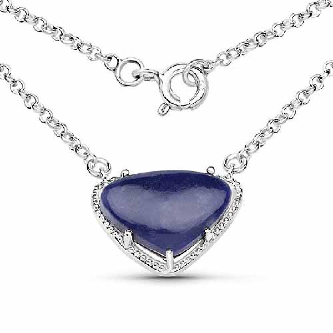 3.92 Carat Genuine Blue Aventurine .925 Sterling Silver