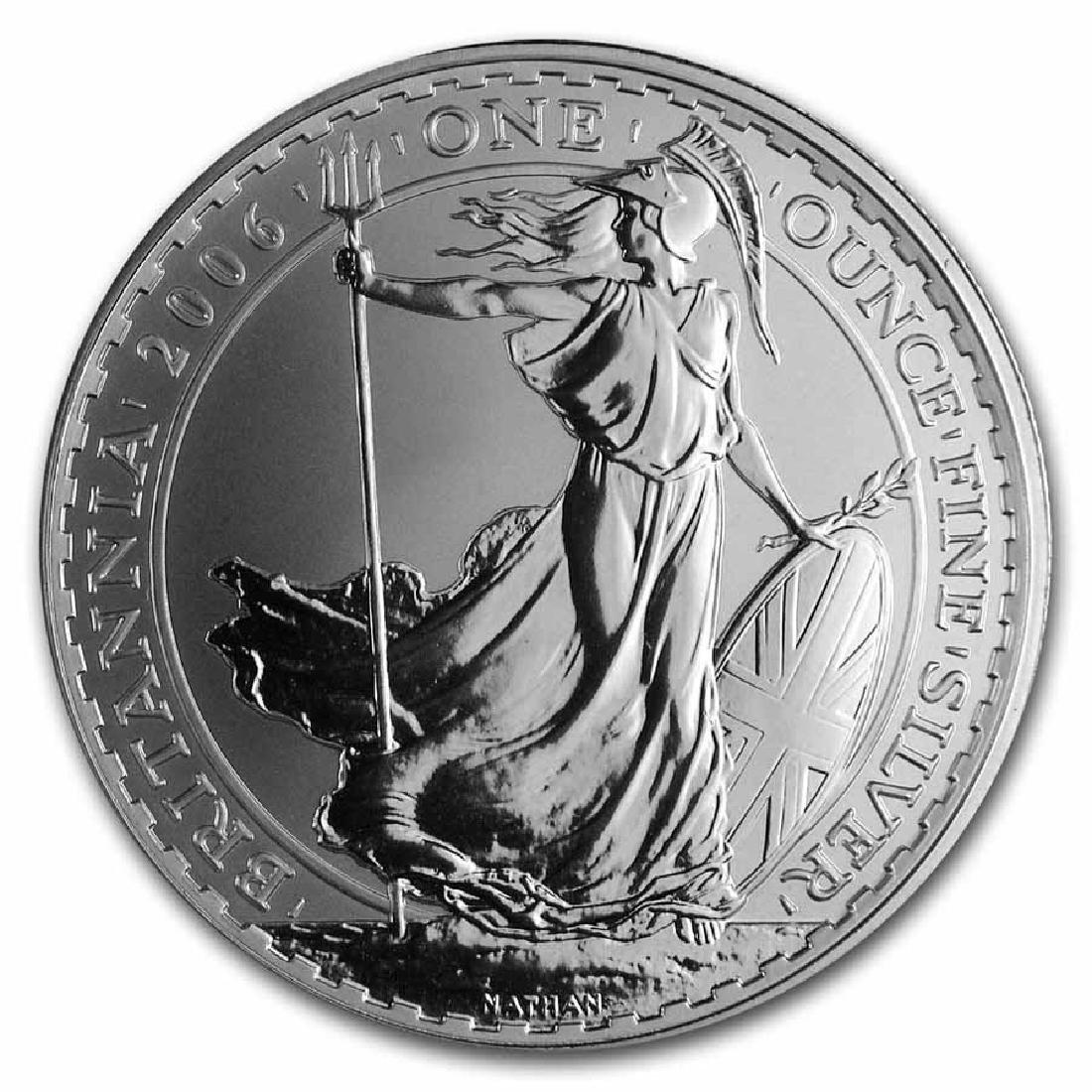 Uncirculated Silver Britannia 1 oz 2006