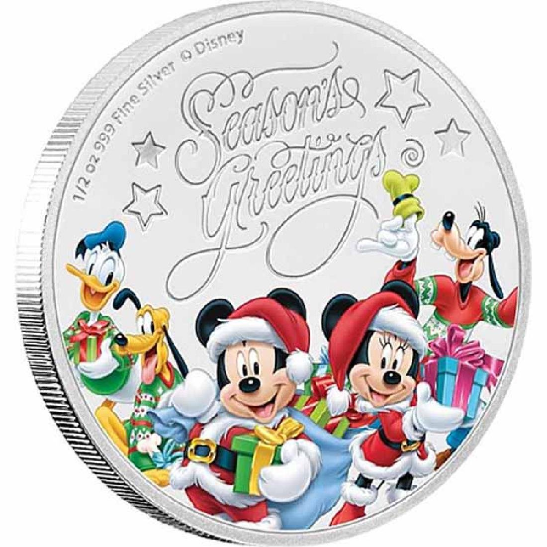 2017 1/2 oz Silver $1 Disney Seasons Greetings Proof