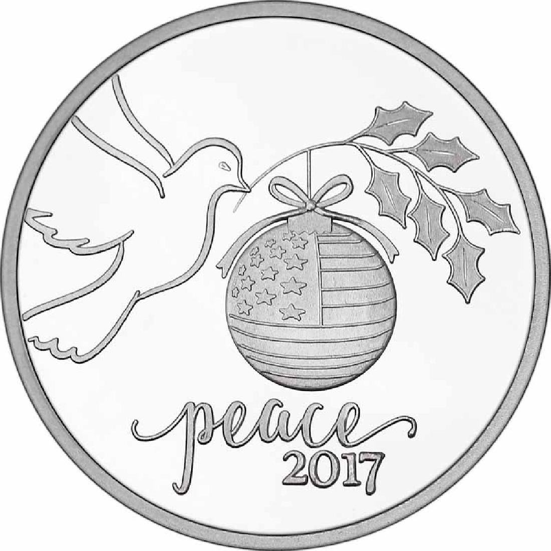 Christmas 2017 Silver Round X-7 Peace Dove