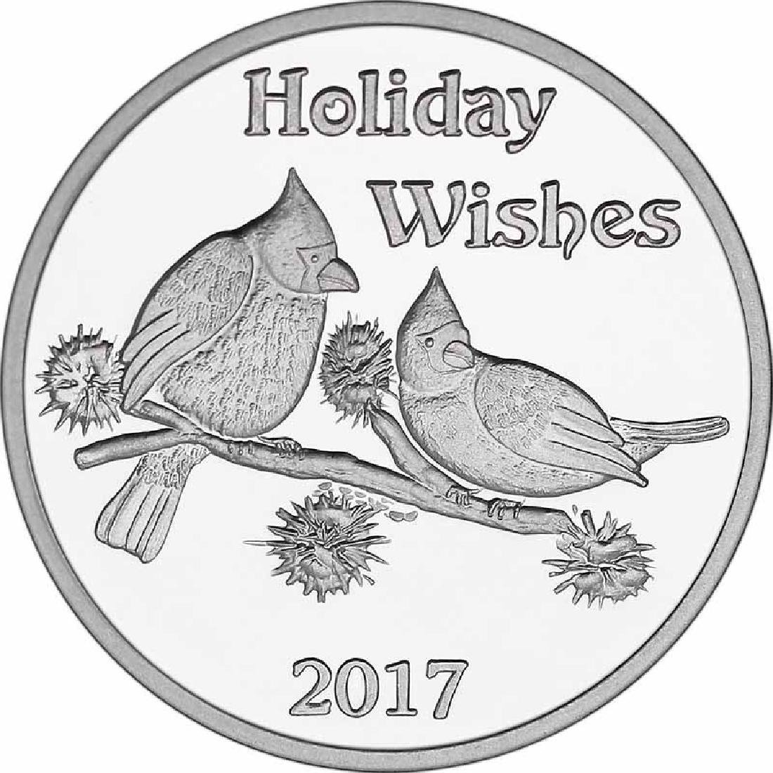 Christmas 2017 Silver Round X-6 Holiday Wishes