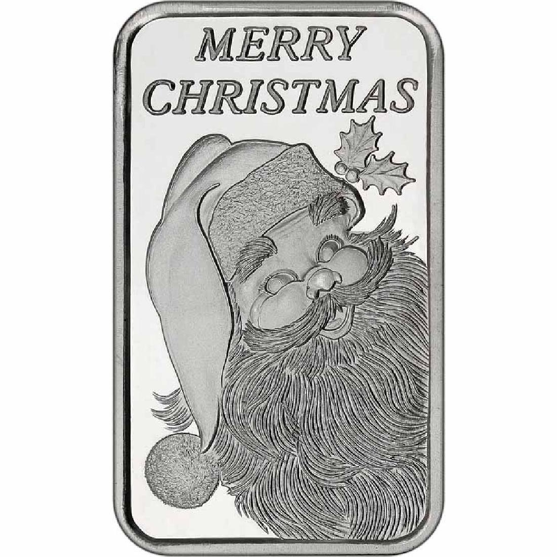 Christmas 2017 Silver Round X-15 5oz Santa