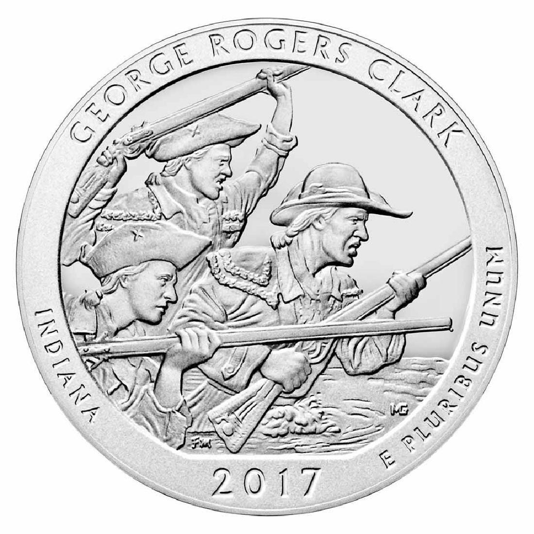 2017 Silver 5oz. George Rogers Clark ATB