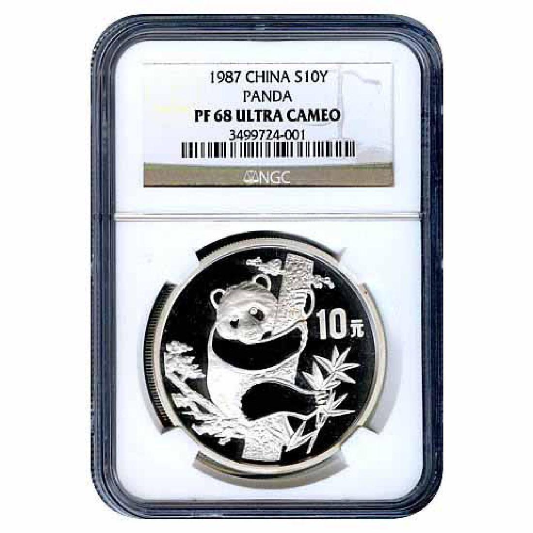 Certified Chinese Panda One Ounce 1987 PF68 NGC