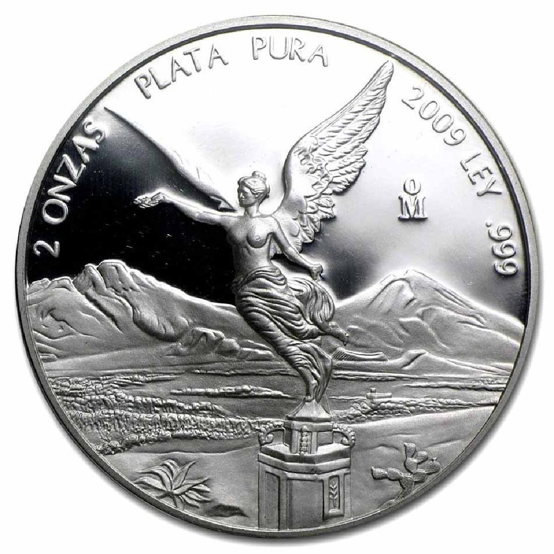 Mexico 2 Ounce Silver Libertad Proof 2009