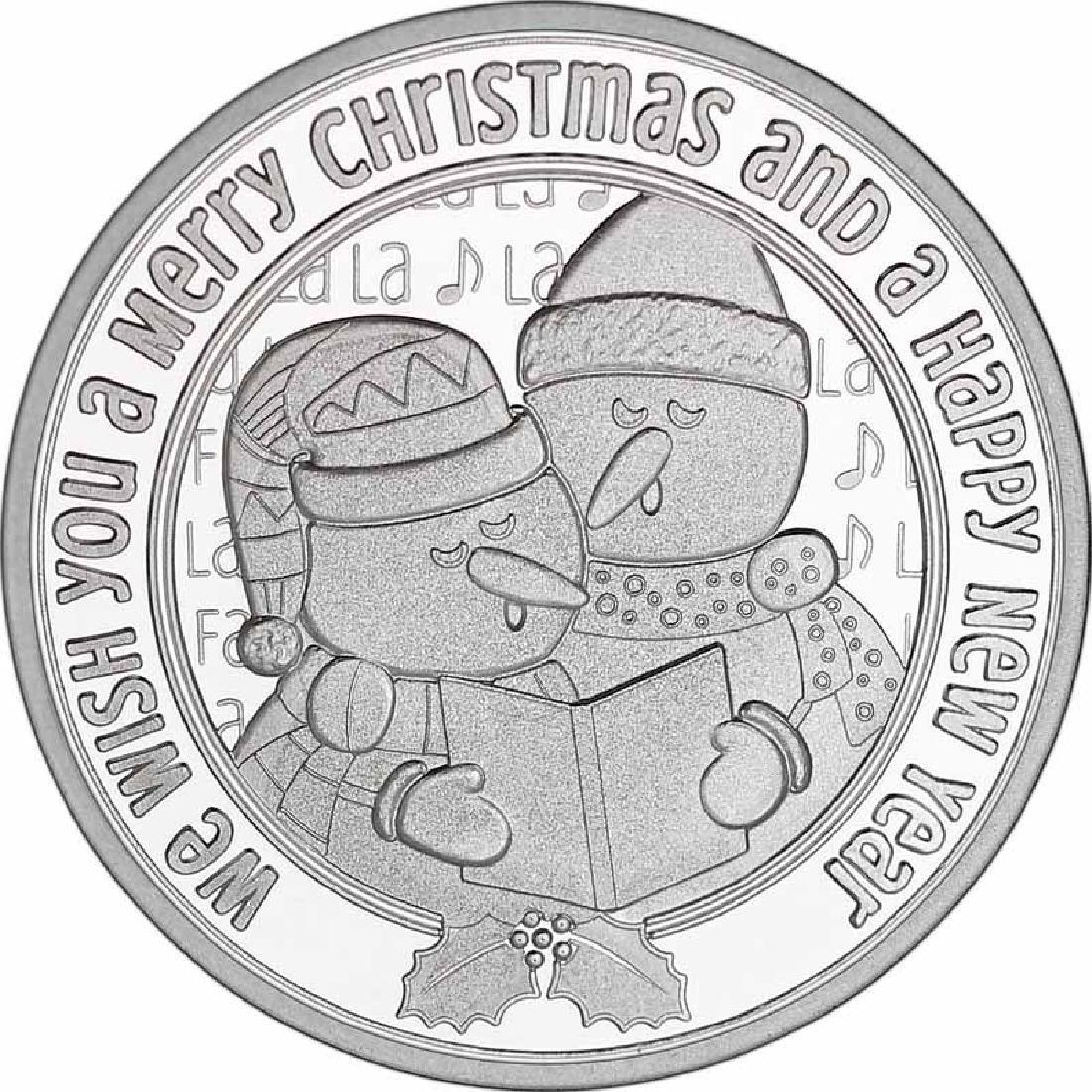 Christmas 2017 Silver Round X-2 Snowman