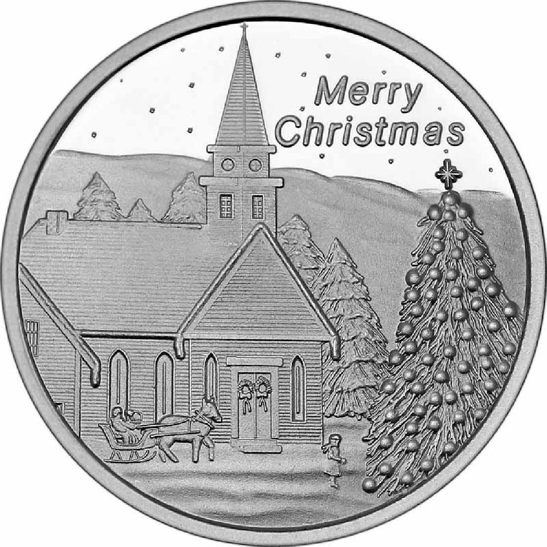 Christmas 2017 Silver Round X-10 Church