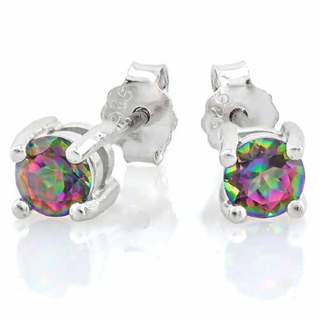 1/2 CARAT MYSTIC GEMSTONE 925 STERLING SILVER EARRINGS