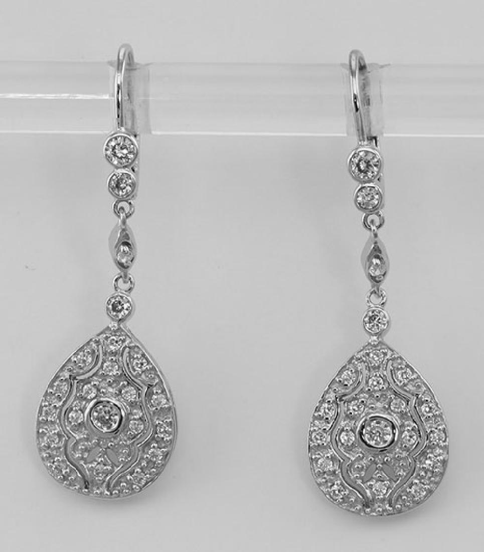 Classic Crystal Drop Earrings - Sterling Silver