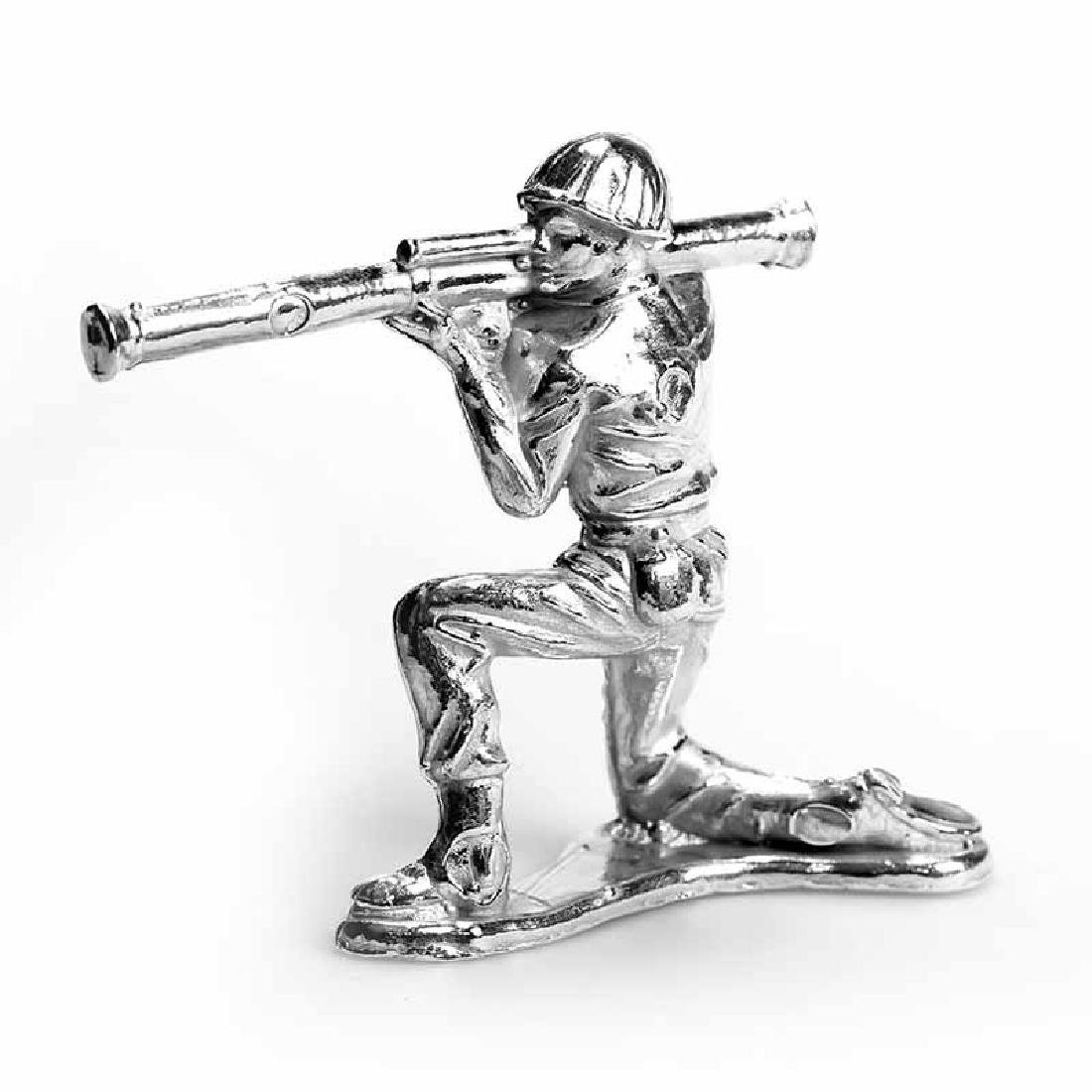 Classic Stovepipe Silver Toy Soldier | 1 oz .999 Fine S