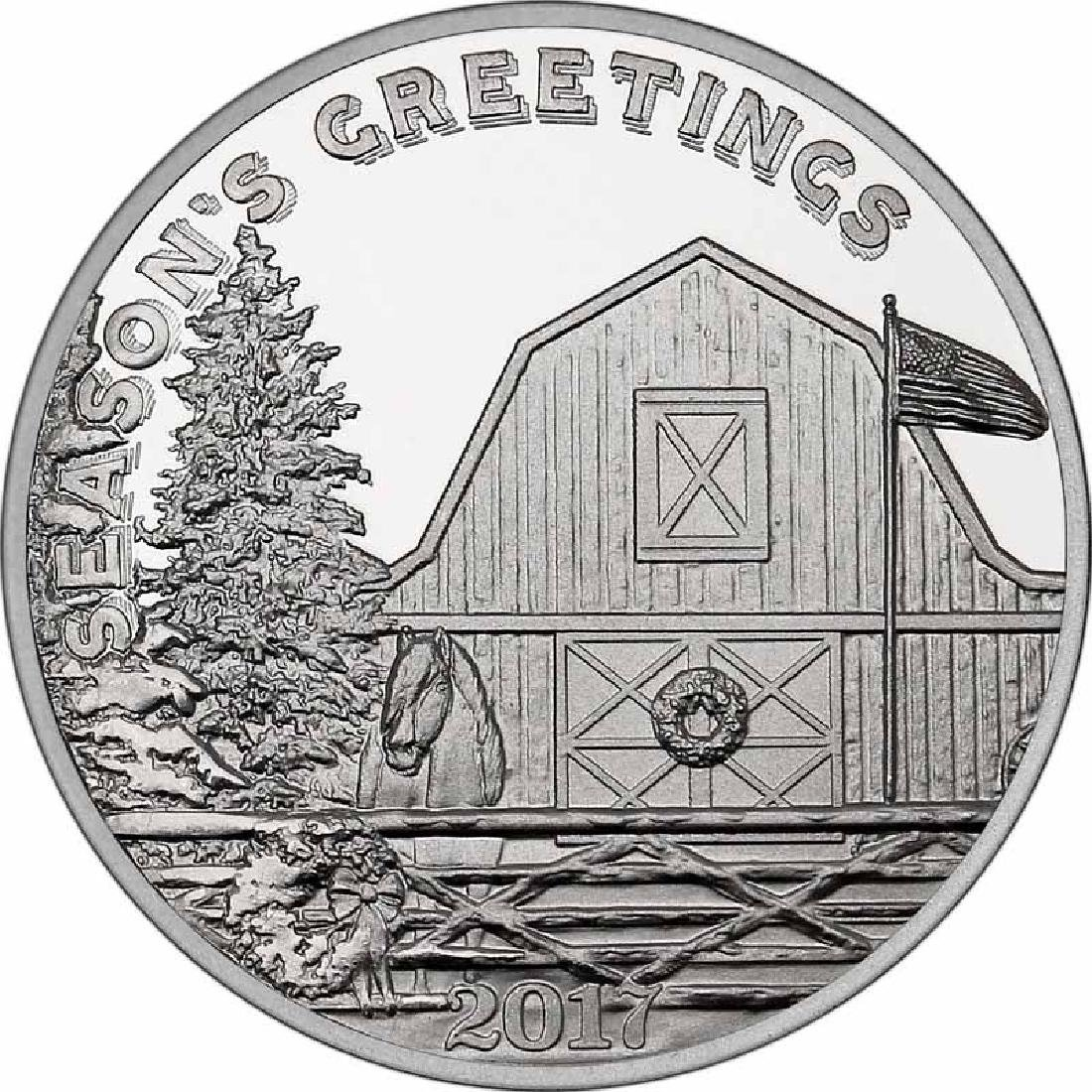 Christmas 2017 Silver Round X-4 Christmas On The Farm