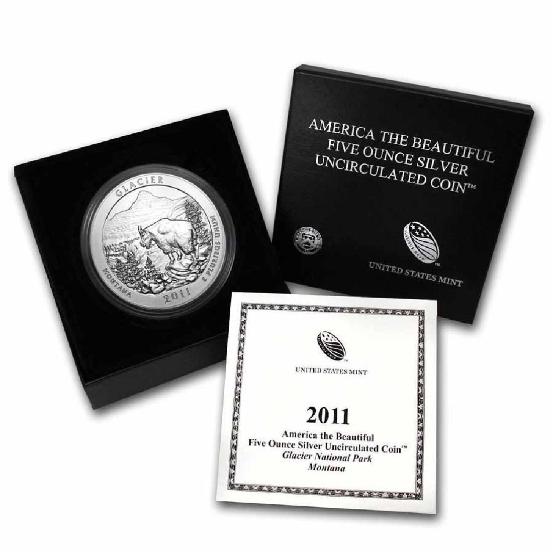 2011-P 5 oz Silver ATB Glacier (w Box and COA)