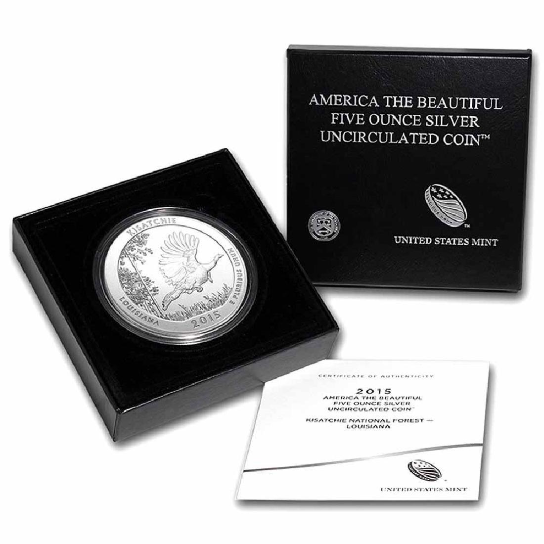 2015-P 5 oz Silver ATB Kisatchie (w Box and COA)