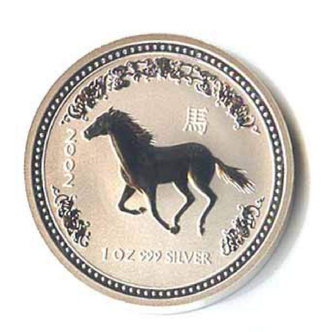 2002 Australia 1 oz Silver Lunar Horse