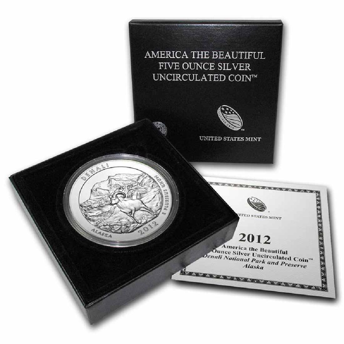 2012-P 5 oz Silver ATB Denali (w Box and COA)
