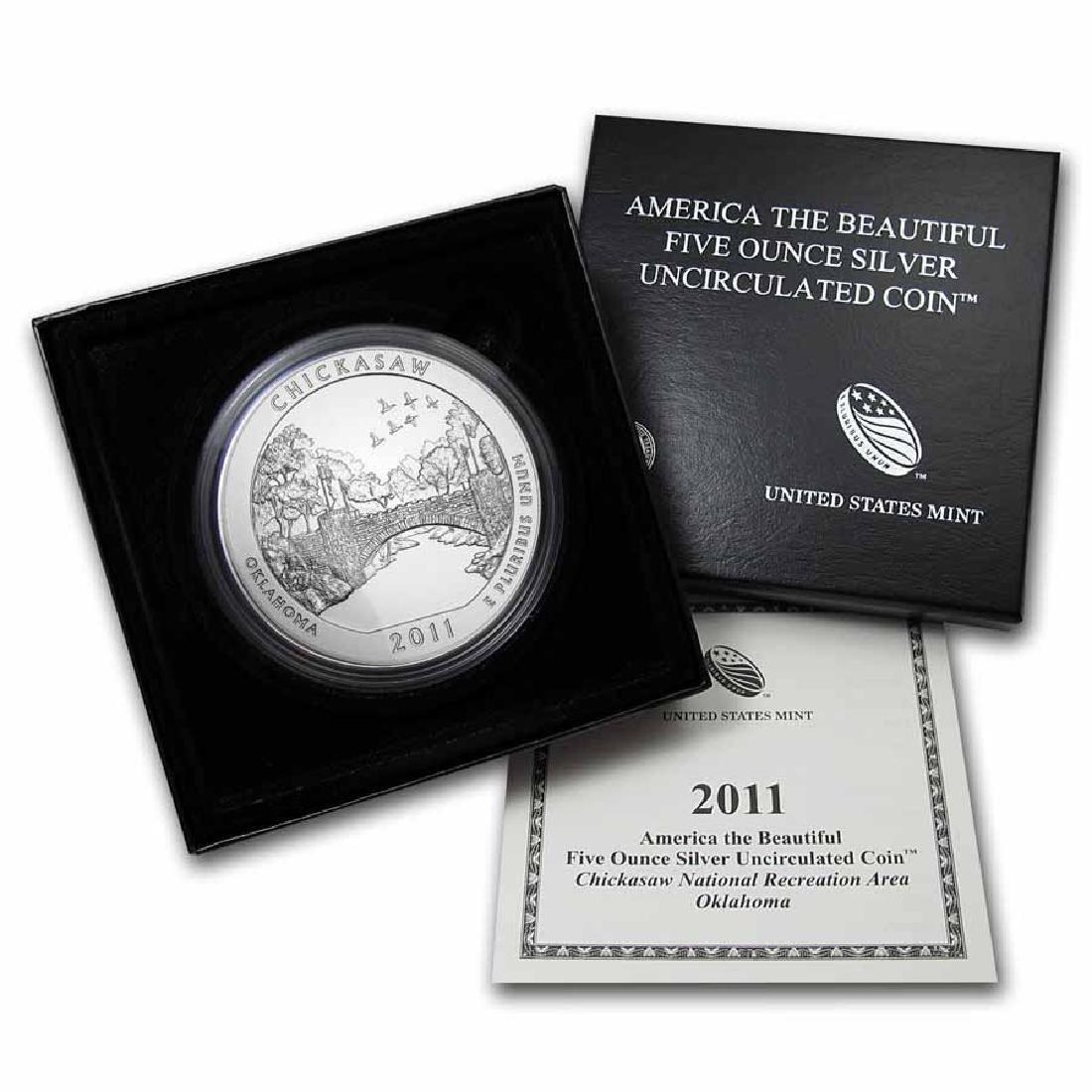 2011-P 5 oz Silver ATB Chickasaw (w Box and COA)