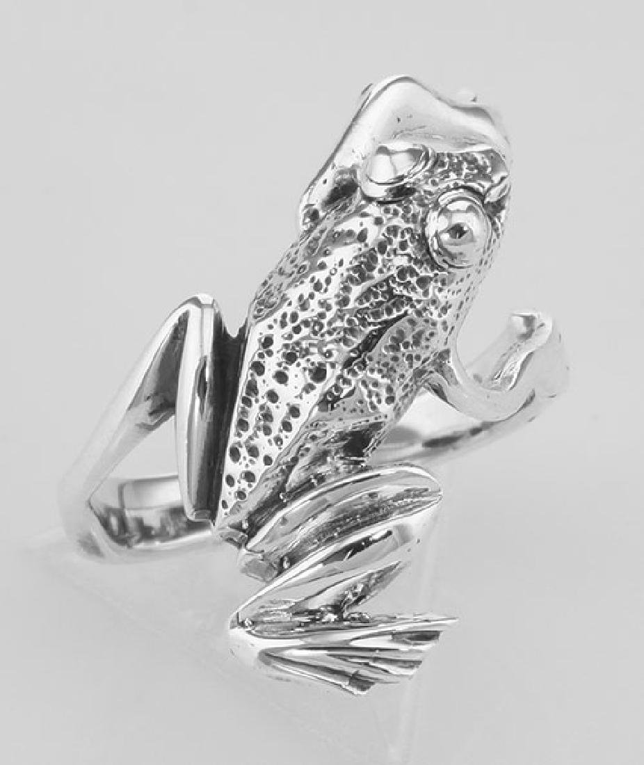 Fun Frog Ring - Hugger Style - Sterling Silver