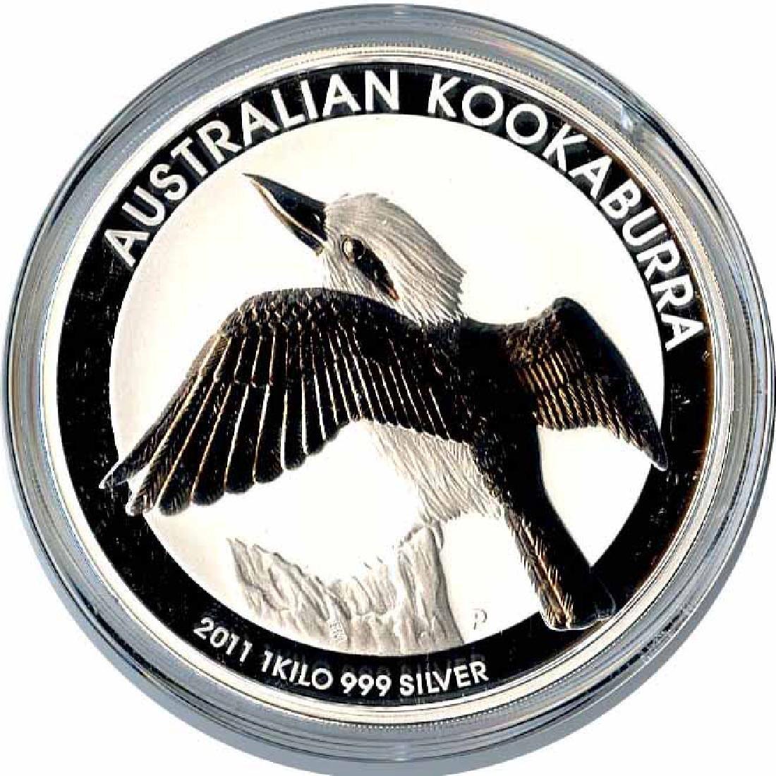 Australian Kookaburra Kilo Silver 2011
