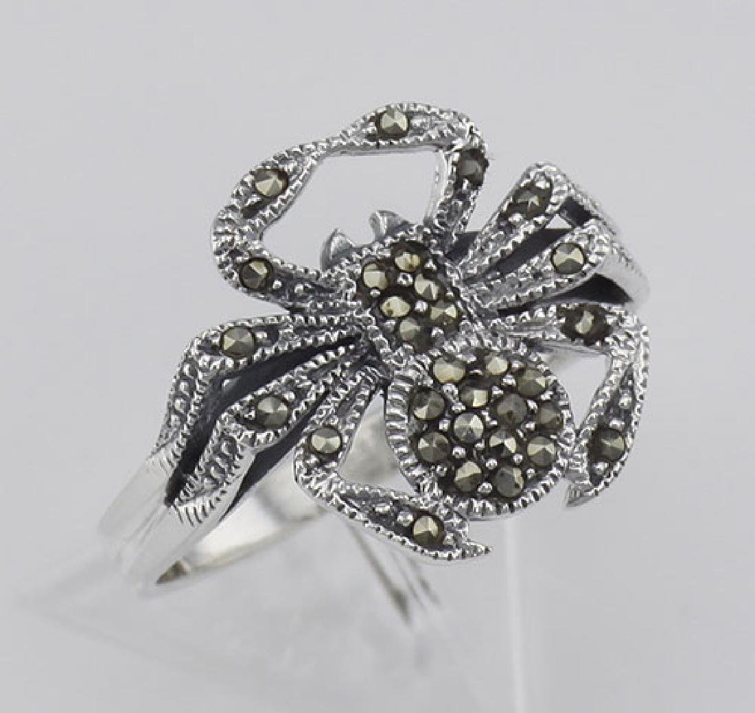 Marcasite Spider Ring - Sterling Silver