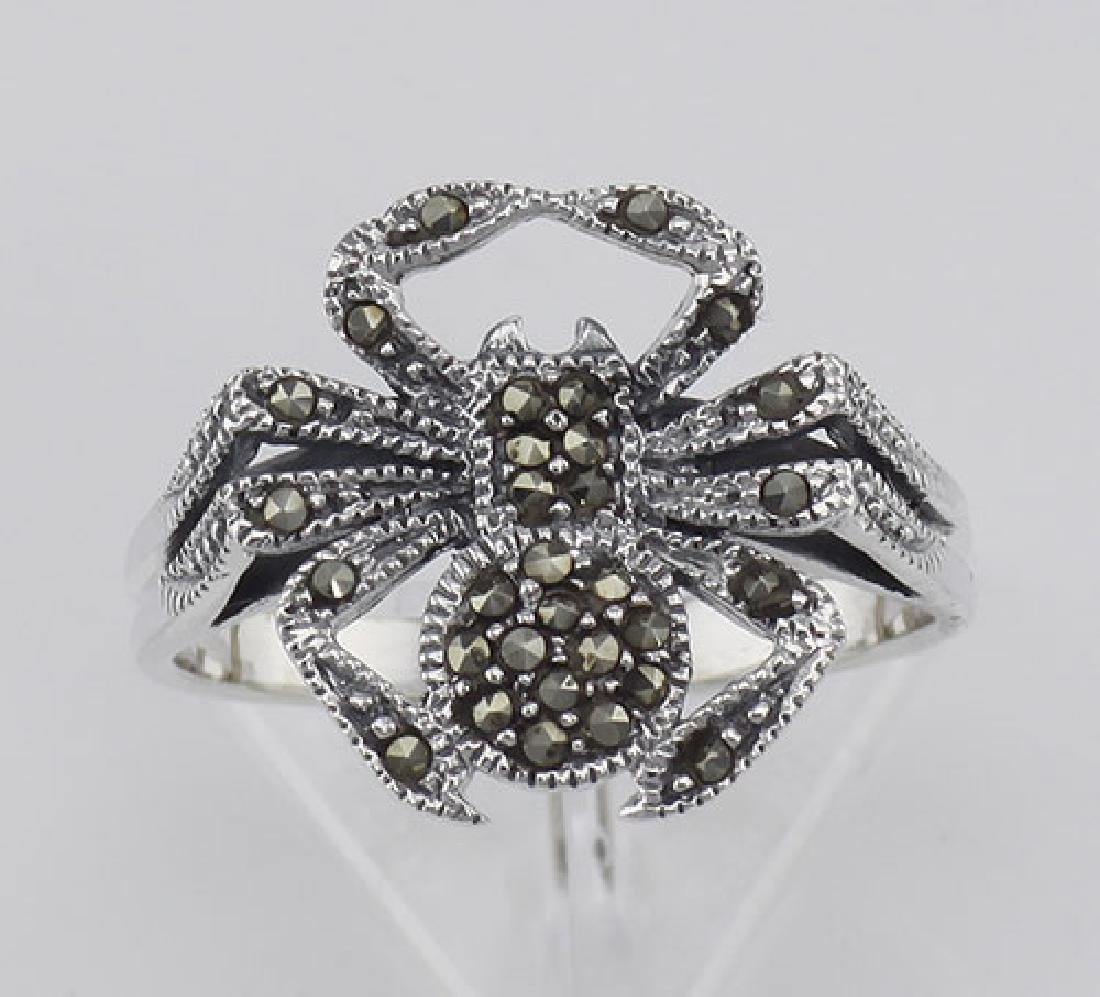 Marcasite Spider Ring - Sterling Silver - 2