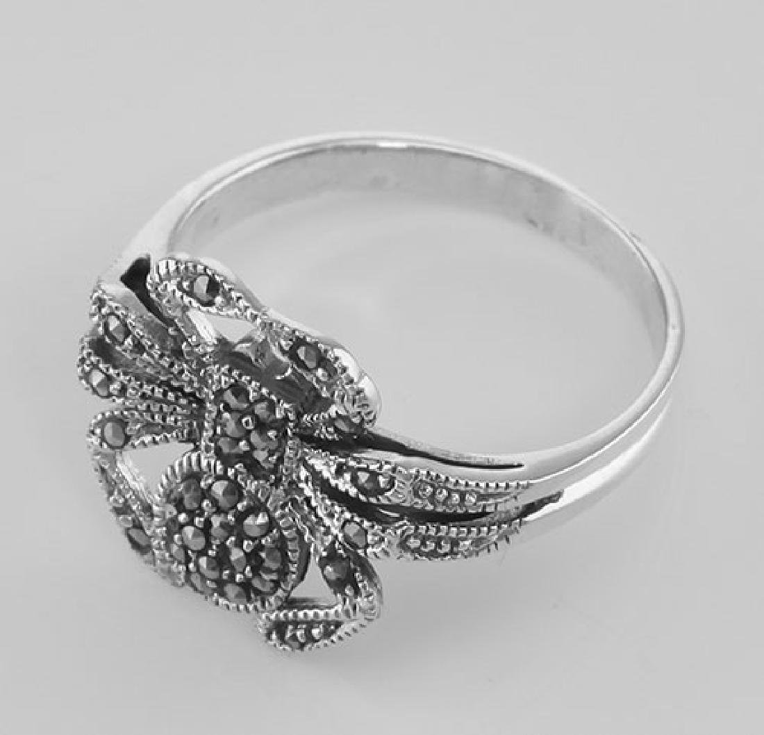 Marcasite Spider Ring - Sterling Silver - 3