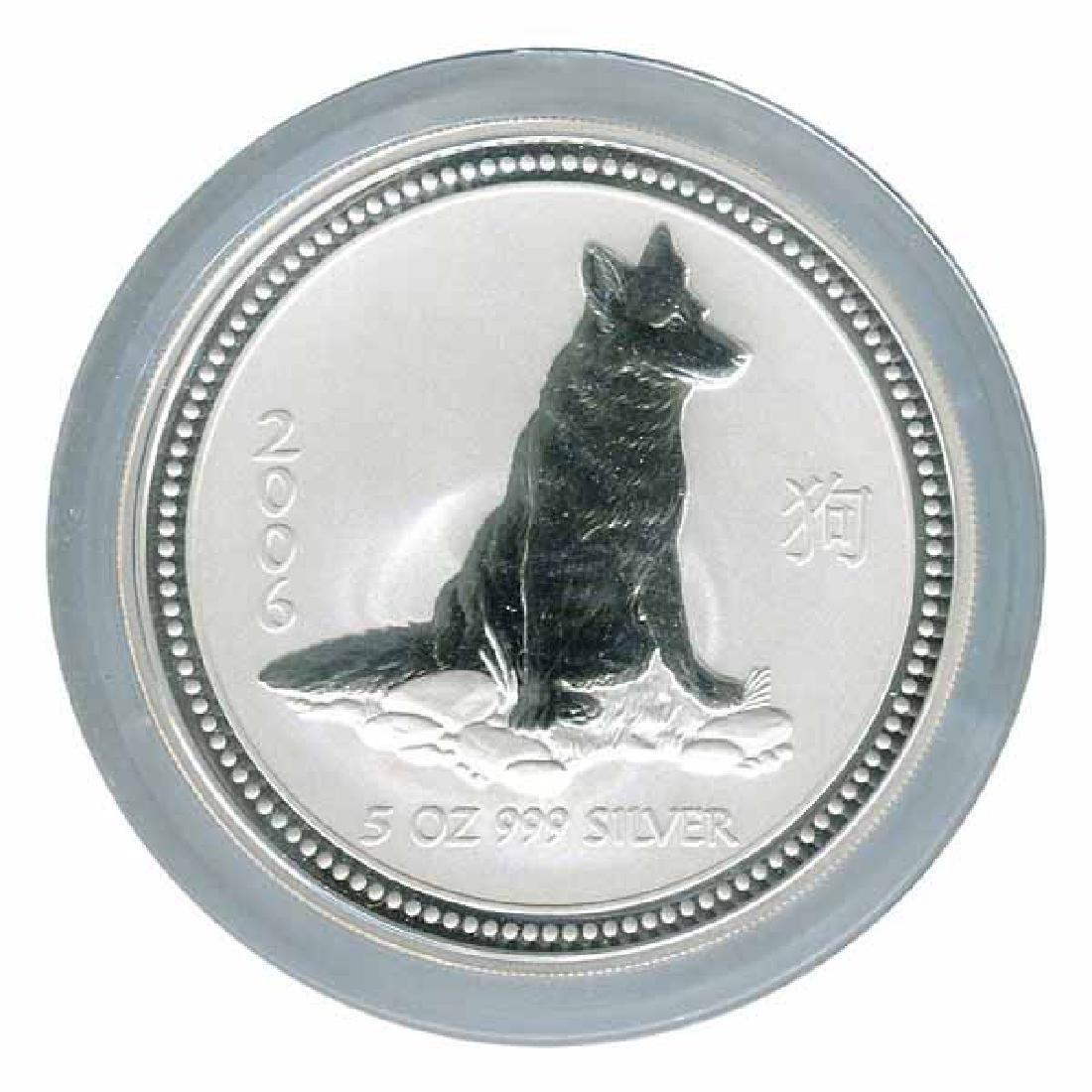 2006 Australia 5 oz Silver Lunar Dog