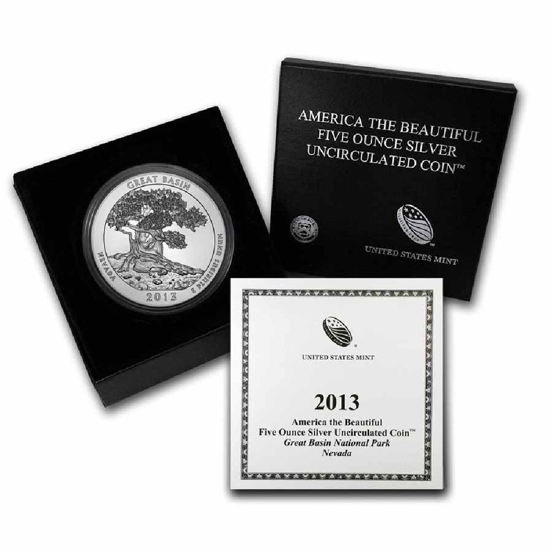 2013-P 5 oz Silver ATB Great Basin (w Box and COA)