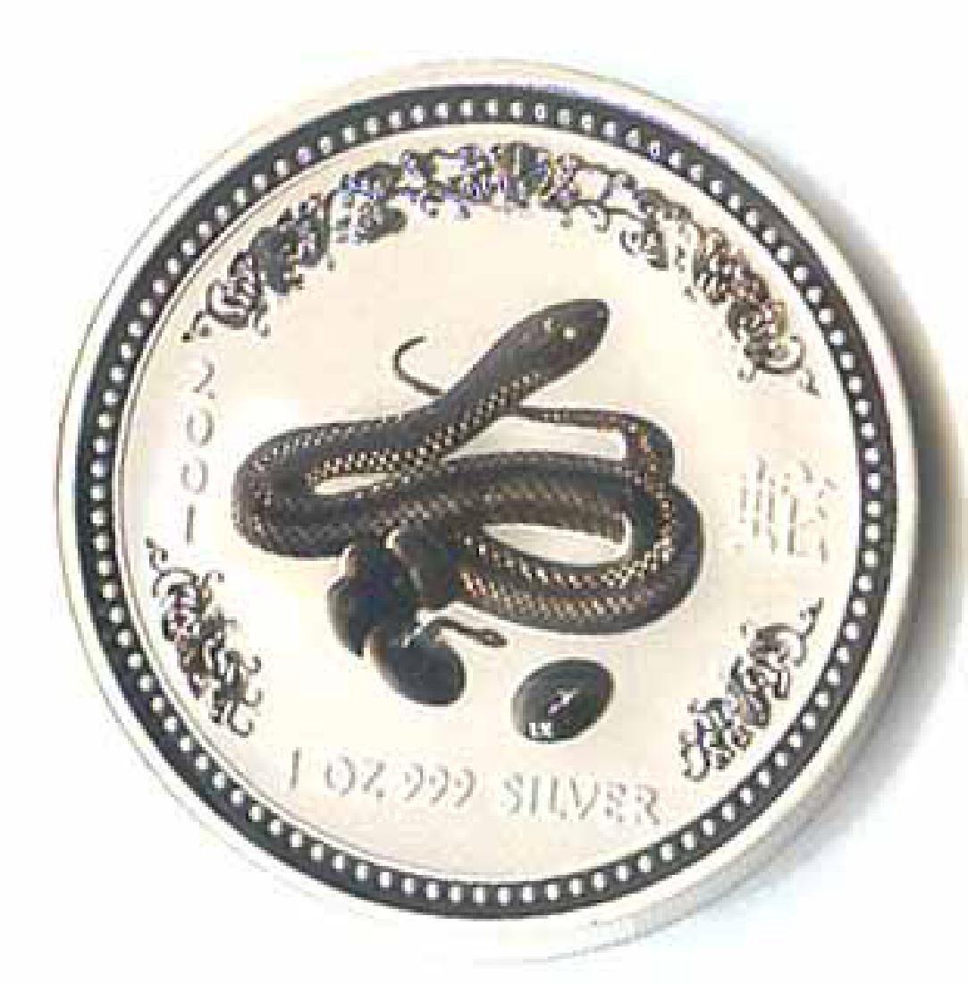 2001 Australia 1 oz Silver Lunar Snake