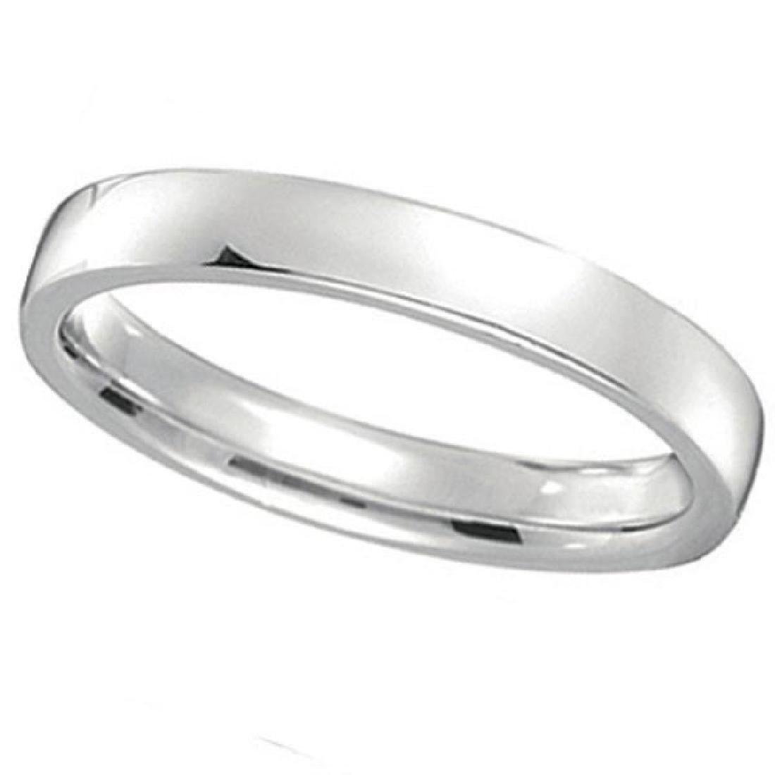 Palladium Wedding Ring Band Low Dome Comfort Fit (3mm)