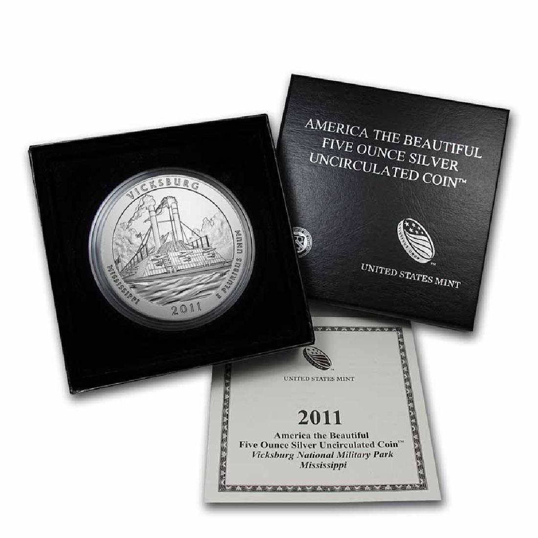 2011-P 5 oz Silver ATB Vicksburg (w Box and COA)