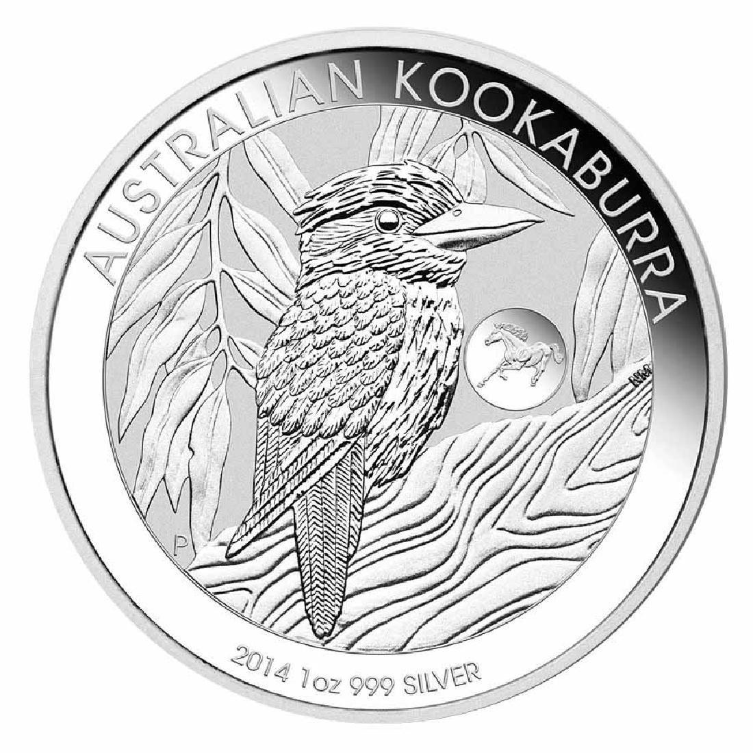 Australian Kookaburra 1 oz. Silver 2014 - Horse Privy M